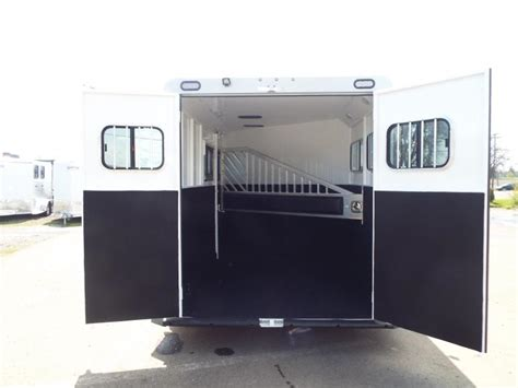 swing out saddle rack for sale 2017 trails west sierra specialite 2 horse trailer