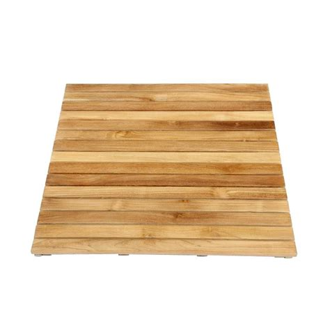 Teak Shower Mat by Arb Teak Specialties 30 In X 36 In Bathroom Shower Mat