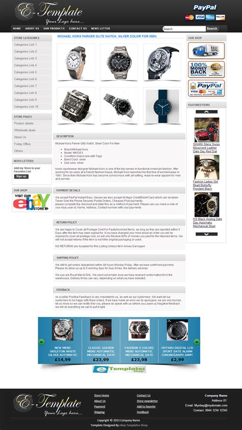 ebay html template ebay template design january 2014
