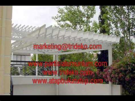 Channel Buka Tutup atap buka tutup aluminium sunlouvre atap canopy aluminium