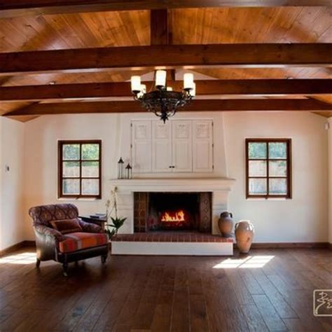 farmhouse fireplace design idea spanish revival home