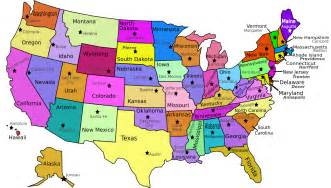 united states map with labeled states and capitals usa states labeled with capitols geography country maps