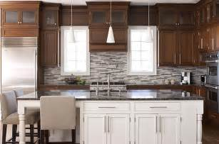 two tone painted kitchen cabinet ideas wonderful two tone kitchen design with coffee stained