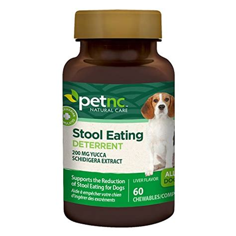Stool Medicine by Petnc Care Stool Deterrent Chewables For Dogs 60 Count Animals Supplies Supplies