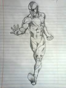 Comic book creator dennis sweatt comicbook character pencil drawing