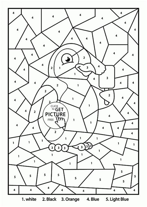cool color by number coloring pages color by number pages cool color by numbers addition