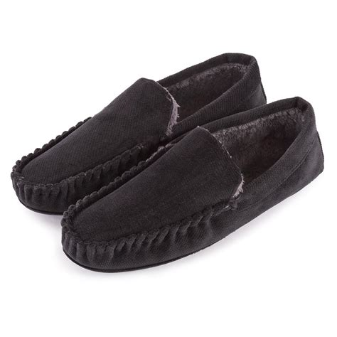 tote slippers totes mens cord moccasin slippers ebay