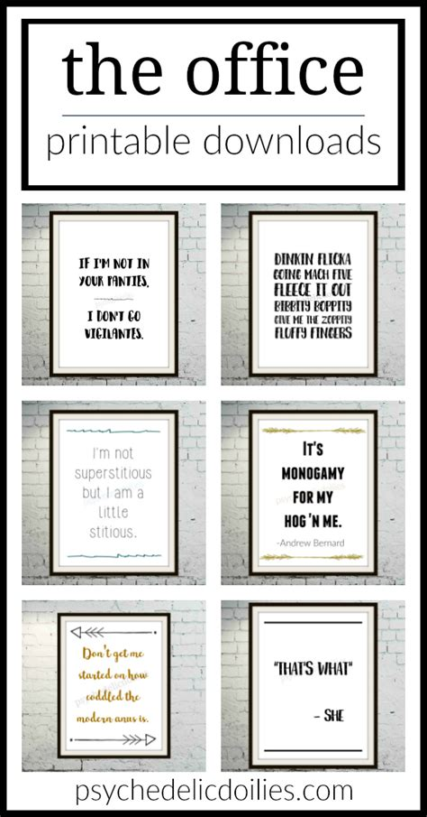 quoted printable html email the office printable art quotes psychedelic doilies