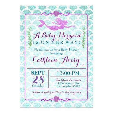 T Shirt Baby Shower Invitations by Mermaid Baby Shower Invitation Zazzle