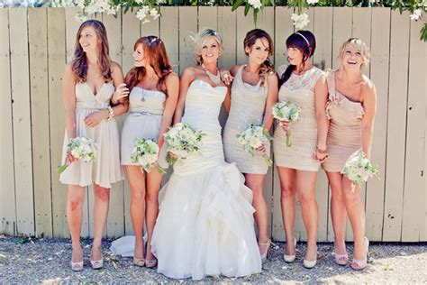 wedding dresses in different colors the secrets of successful mismatched bridesmaids 3 0