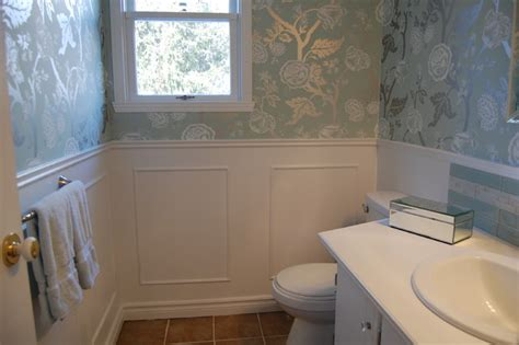 houzz bathroom wallpaper wallpaper in powder room