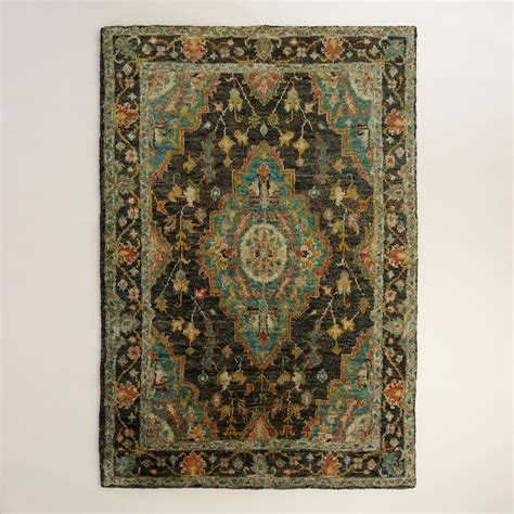 6 X9 Area Rugs with 6 X9 Charcoal Knotted Jute Kori Area Rug World Market