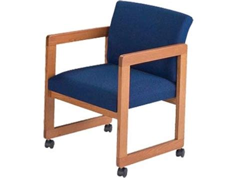 Armchair With Casters by Classic Arm Chair With Casters Gr 2 Fabric Lro 1401c Reception Chairs