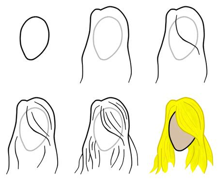 Step By Step Hairstyles To Draw | how to draw hair