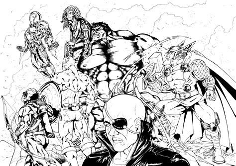 nos jeux de coloriage avengers  imprimer gratuit page
