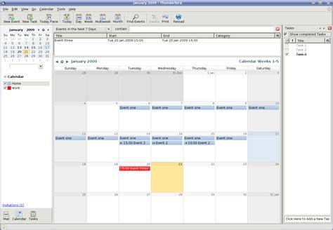Calendar Extension Thunderbird Lightning Software