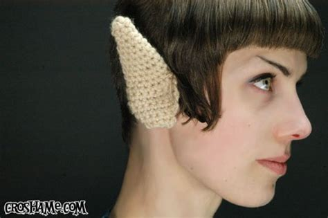 knitted eyebrows crocheted spock ears knit and prosper technabob