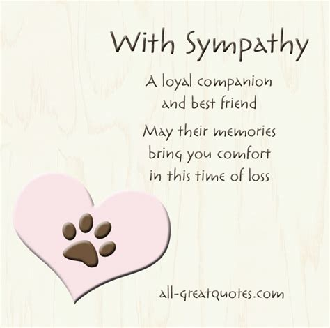 words of comfort for the loss of a pet best sympathy quotes quotesgram
