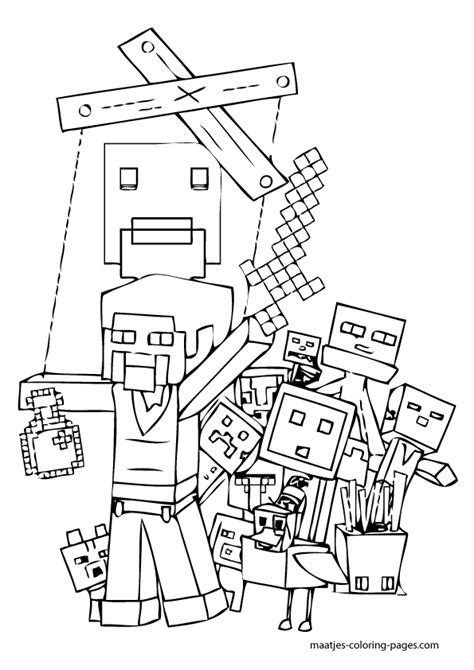 minecraft food coloring pages minecraft blocks free colouring pages