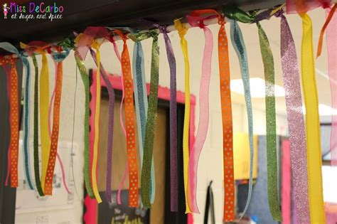 ribbon curtains for doors ribbon door curtain for classroom by miss decarbo sugar