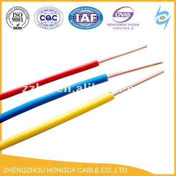 pvc coated electrical wire and cable solid stranded copper