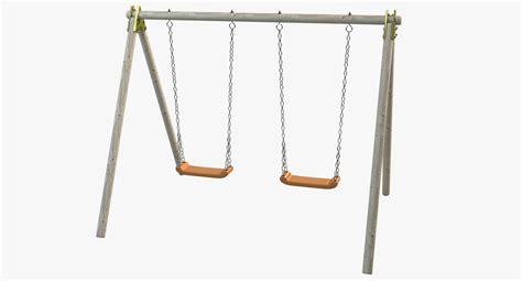 3d swing swing wood 3d model