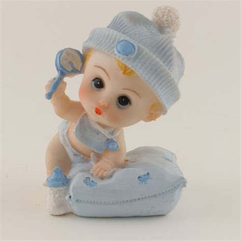 Baby Shower Figurines Wholesale by Ifavor123 Baby Shower Boy With Pillow Keepsake