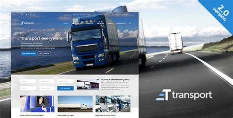 bootstrap templates for logistics download themeforest transport wp transportation