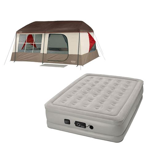 wenzel  kodiak camping family cabin tent  insta bed