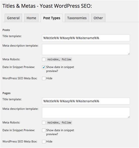 tutorial yoast wordpress seo yoast wordpress seo tutorial settings