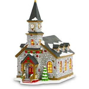 st patrick church christmas village figurine piece