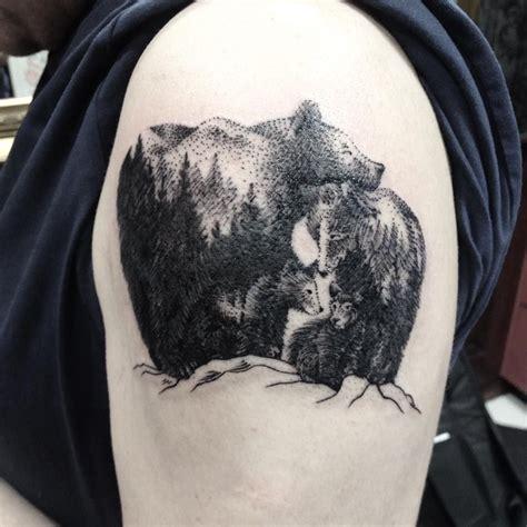 tattoo family bear sweet bear family dotwork linework tatto my tattoos