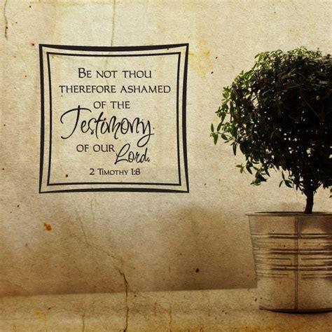 thou  ashamed   testimony   lord