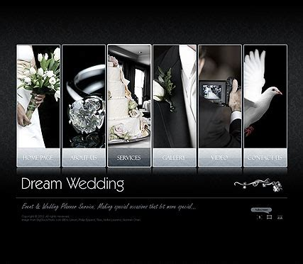 dream wedding video gallery template best website templates