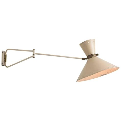 modern swing arm wall sconce modern swing arm wall sconce by rene mathieu circa 1950