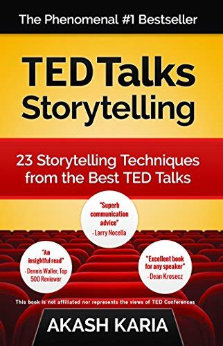 libro ted talks the official ted talks storytelling 23 storytelling techniques from the best ted talks english edition