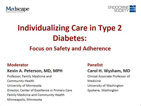 individualizing care  type  diabetes focus  safety
