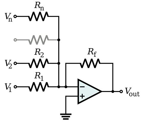 summing with resistors solved what are the advantages of differential