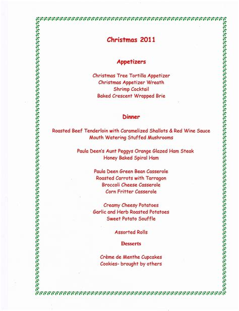 christmas dinner menu food and drink pinterest
