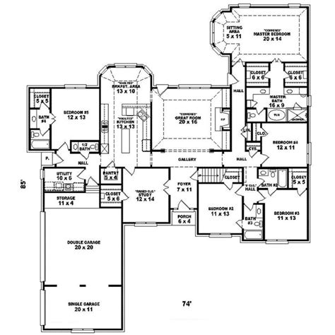 luxury ranch floor plans earline ranch home luxury house plans 3 car garage and
