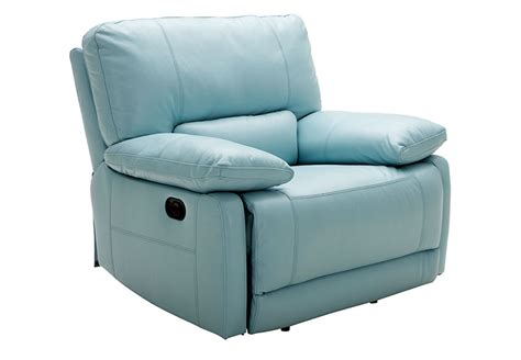 Light Blue Leather Recliner Kuka Light Blue Power Recliner Leather Match