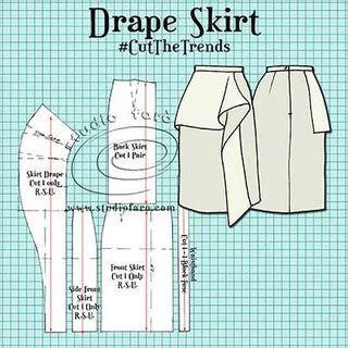 draped dress crossword pattern puzzle drape skirt making parttern pinterest