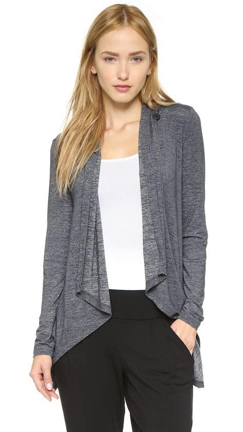 drape front cardigan lyst beyond yoga cloud heather drape front cardigan