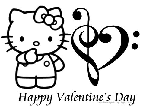 hello kitty coloring pages for valentines day hello kitty coloring pages