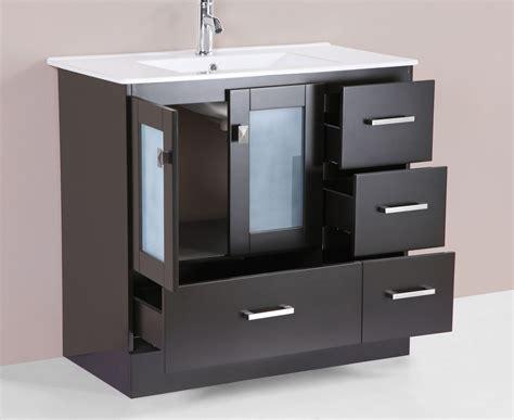 36 quot hermosa espresso single modern bathroom vanity with