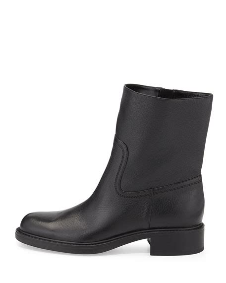 gucci maud leather ankle boot black
