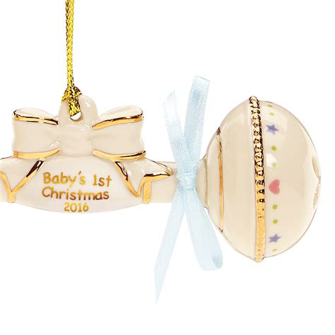 baby tree ornaments 2016 baby s ornament baby rattle lenox