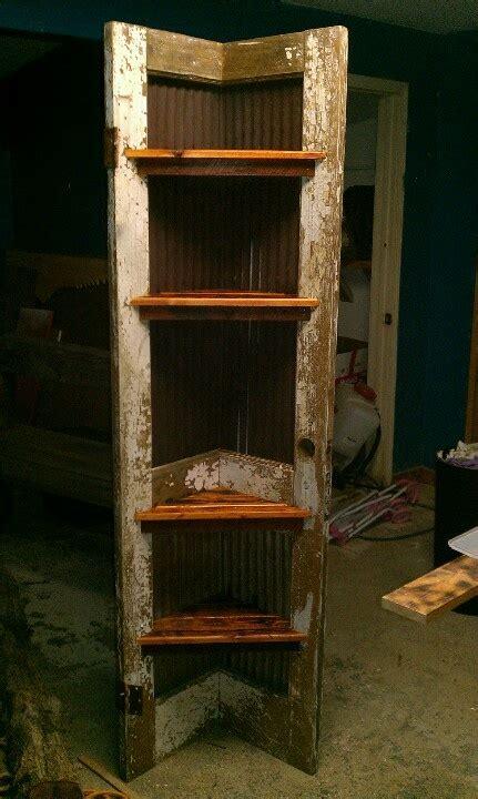 Corner Shelf Made From Door by Corner Shelf Made From Door And All Reclaimed