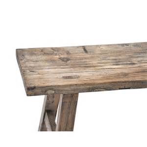 Reclaimed wood bench ines cole