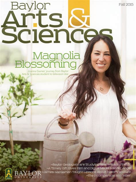 joanna gaines magazine baylor arts sciences magazine fall 2015